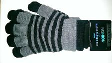 Fashion 2 in 1 Magic Gloves Set in Black and Grey (one size fits all)