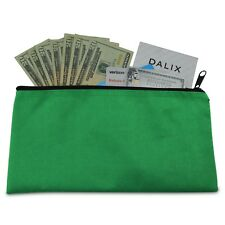 Deposit Bag Bank Pouch Zippered Safe Money Bag Organizer in GREEN