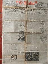 LE MATIN (13/11/1920) A la veille des élections grecques - Comment Foch fut ..
