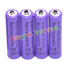 4x AAA 1800mAh 1.2 V Ni-MH rechargeable battery Purple for MP3 RC Toys Camera