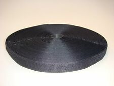 25m Hakenband Klettband zum Aufnähen 20mm schwarz / Grundpreis je Meter=EUR 0,22