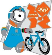 2012 LONDON  OLYMPIC MASCOT TRIATHLON GAMES MARK SPORTS PIN NEW
