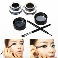 2 in 1 Brown + Black Gel Eyeliner Make Up Waterproof F5X3 and Smudge-proof A3K4