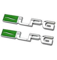 2x LPG Emblem Logo Badge auto aufkleber Metall car Sticker  3D LPG Emblem Chrom