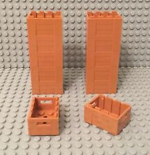 Lego X12 New Adventurers Chest Container, Medium Dark Flesh Crate with Handholds