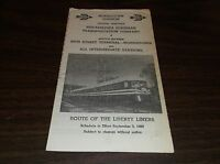 SEPT. 1969 RED ARROW LINES PHILADELPHIA SUBURBAN TRANSPORTATION LIBERTY LINER