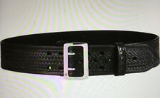 "Aker Leather B01-BW-30 Sam Browne Leather-lined Duty Belt 2-1/4"" Width 30"" Waist"