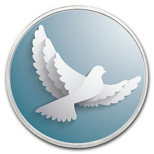 1 oz Silver Colorized Round - APMEX (Dove of Peace) - SKU #118059