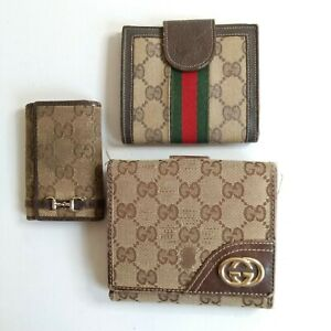 GUCCI Bifold Wallets, Key Case Black Lot of 3 Used Authentic nzk-134