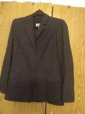 Montana Claude Montana Paris 100% Wool Skirt Suit Slate Grey w White Stripes
