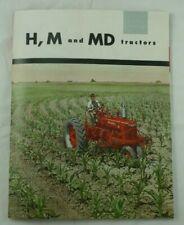 International Harvester Mccormick Farmall H M Md Tractor Color Dealer Brochure