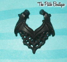MONSTER HIGH DRACULAURA DAY NIGHT DOLL REPLACEMENT BLACK SPIDER WEB BAT NECKLACE