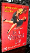 IT'S ITS A WONDERFUL LIFE REMASTERED James Stewart NEW & SEALED REGION 2 DVD