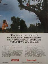 6/1990 PUB HONEYWELL RACAL AIR GROUND COMMUNICATIONS SATCOM ARINC ORIGINAL AD