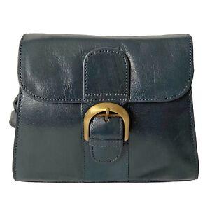 Rowallan Navy Blue Leather Shoulder Bag, Cross Body Bag