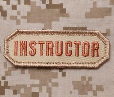 INSTRUCTOR USA ARMY BADGE MILITARY MILSPEC DESERT VELCRO® BRAND FASTENER PATCH