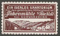 An Ideal Sanatorium, Schwarzburg, Germany, Poster Stamp / Cinderella Label