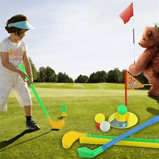 Kids Golf Set Junior Outdoor Indoor Safe Childs Toy Practice Clubs Game Gift New