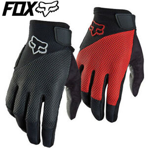 Fox REFLEX GEL MTB Cycling Gloves - Black, Red - XL XXL