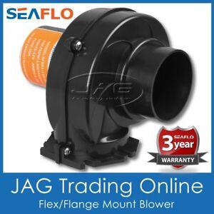"""SEAFLO 12V BILGE AIR BLOWER 130 CFM FLEX/FLANGE MOUNT 3"""" HOSE - MARINE/CARAVAN"""