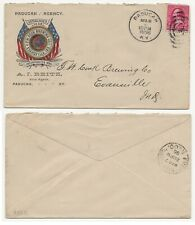 Pre Prohibition Advertising Postal Cover F W Cook Brewery Evansville In Ky 1896