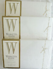 Nwt 3 Wamsutta Elite Queen Flat Sheets White 100% Combed Cotton 200 Thread Count