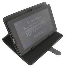 Funda para HP Omni 10 5600eg estilo libro Tablet Protectora Soporte Negro