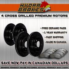 C0715 FRONT+REAR Drill Brake Rotors Ceramic Pads FOR 2009 2010 2011 Mazda 3 2.0L
