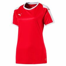 Puma Womens Ladies Sport Football Soccer Jersey Shirt Short Sleeve Top Crew Neck