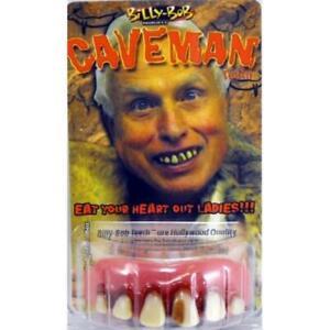 CAVEMAN CAVITY GOOFY FALSE TEETH WITH FIXER