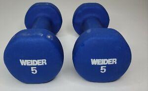 5 Lb WEIDER Neoprene Dumbbells (Set Of 2) Total 10 Lbs