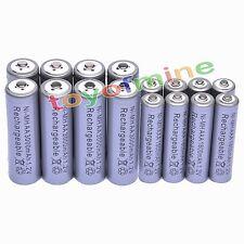 8 Aa 3000 Mah + 8 Aaa 1800mah 1.2 v Ni-mh Batería Recargable De 2a 3a Gris Celular