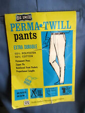 32x30 NWT NOS True Vtg 50s BIG SMITH BLUE TWILL CHINOS WORK PANTS