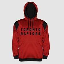 Toronto Raptors Quarter Zip Synthetic Hoodie 2XL Red Embroidered Logos NBA