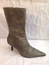 Faith Green Mid Calf Leather Boots Size 4