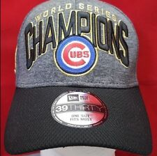 CHICAGO CUBS MLB 2016 WORLD SERIES CHAMPIONS NEW ERA 39THIRTY FLEX CAP/HAT - NEW