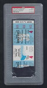 PSA - VINTAGE 1959 WORLD SERIES WHITE SOX @ LA DODGERS TICKET STUB GAME #4
