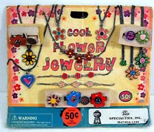 Cool Flower Power Jewelry Fower Rings Gumball Vending Machine Disp Card Toys #1