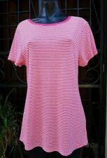 Regular Size Cotton Blend Striped Tops & Blouses for Women