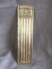 Laiton Antique Plaque Doigt À Pression Porte Victorien Recyclé Vintage Régence