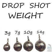 CANNONBALL/ROUND DROP SHOT LEADS. PACK OF 4 WEIGHTS.PERCH,PIKE,BASS