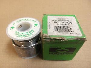 "NEW J.W. Harris Co. Rosin-Core Solder 50/50 1/8"" X 1lb Spool"