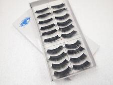 10 Pairs Black False Eyelashes Design Eyelash Beauty Natural Style w/Glue 010