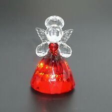 Ganz Crystal Expressions Sacred Angel Red Clear Acrylic Figure Collectible NEW