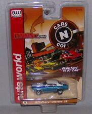 """New"" Aw Rel 23 Cars N Coffee '70 Blue Chevy Chevelle Ss T Jet Ho Slot Car"