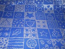"""Blue and Silver Christmas Fabric Concord Fabrics 35"""" x 44"""" w"""