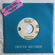 "DEPECHE MODE -Enjoy The Silence- Rare Italian Promo 7"" With Juke Box Strip/Vinyl"