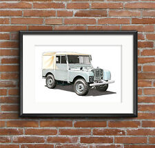 Land Rover Series 1 POSTER PRINT A1 size