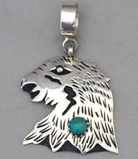 Rosita Tommy Singer Navajo Indian Sterling Silver Eagle Turquoise Pendant