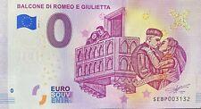 BILLET 0  EURO BALCONE DI ROMEO E GIULITTA  ITALIE 2019  NUMERO SUITE 3132